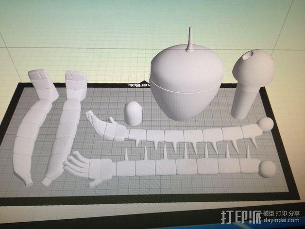 机器人摆件 3D模型  图2