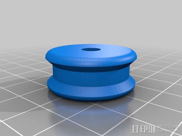 通用线轴架 3D模型  图2