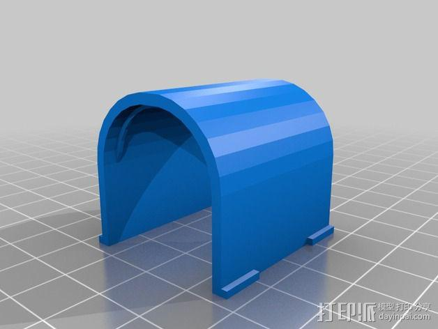 适配器壳子 3D模型  图2