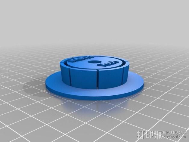 灯丝适配器 3D模型  图2