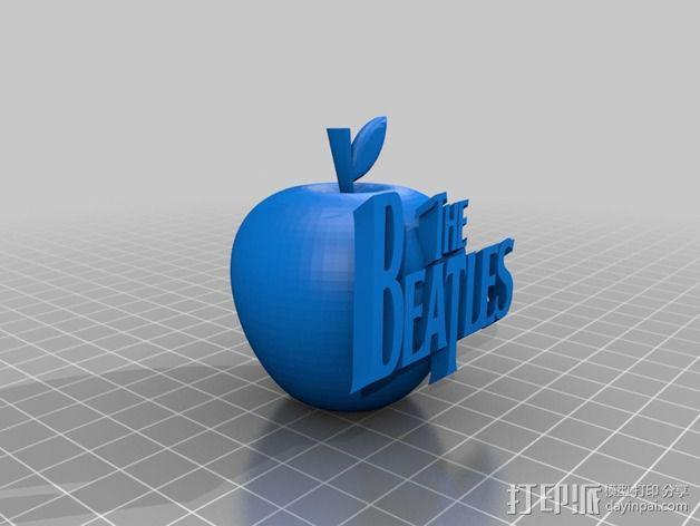 苹果摆件 3D模型  图1