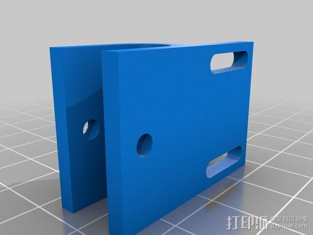 可调节Y轴适配器 3D模型  图3