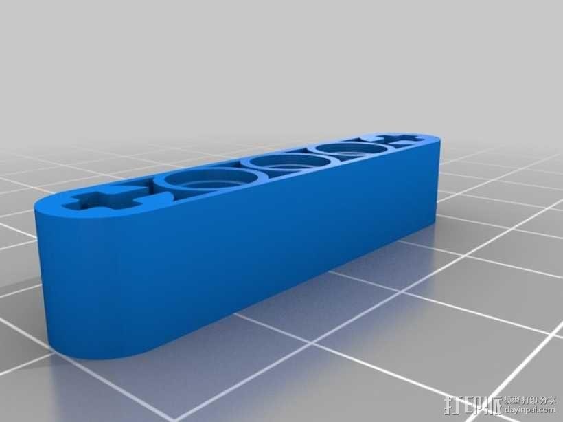乐高臂梁 3D模型  图1
