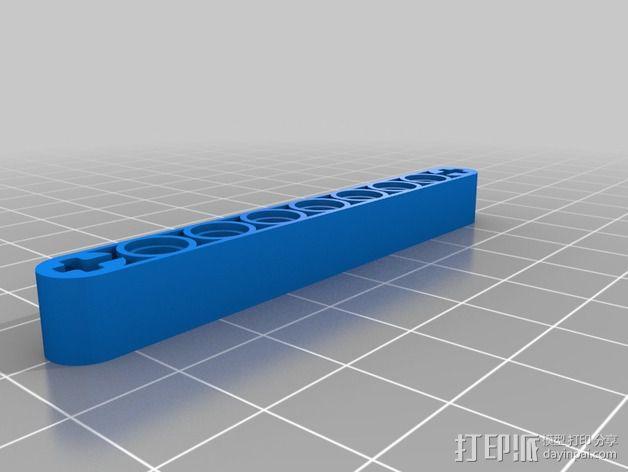 乐高臂梁 3D模型  图4