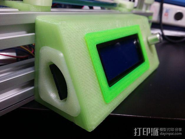 LCD控制外壳 3D模型  图2