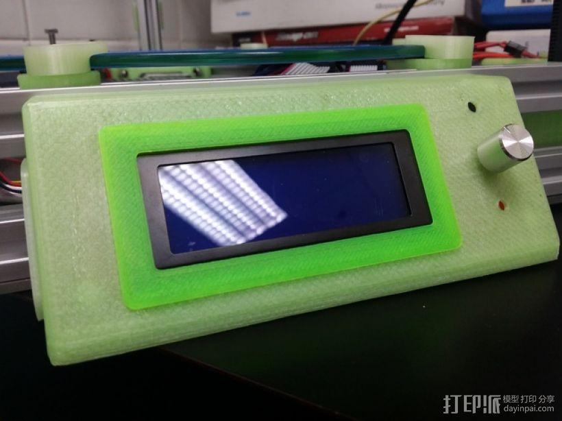 LCD控制外壳 3D模型  图1