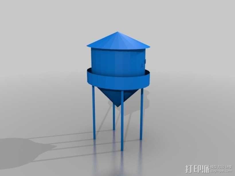 水塔摆件 3D模型  图1