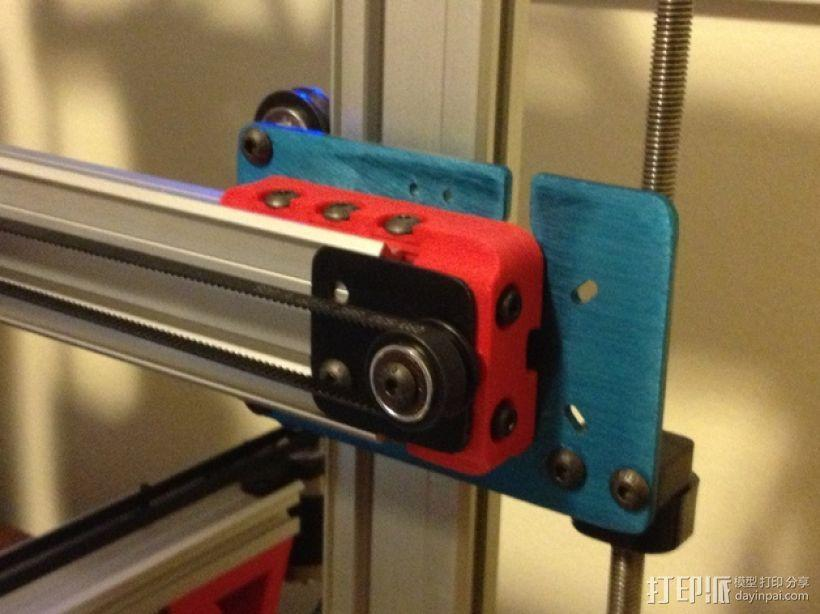 X轴适配器 3D模型  图1