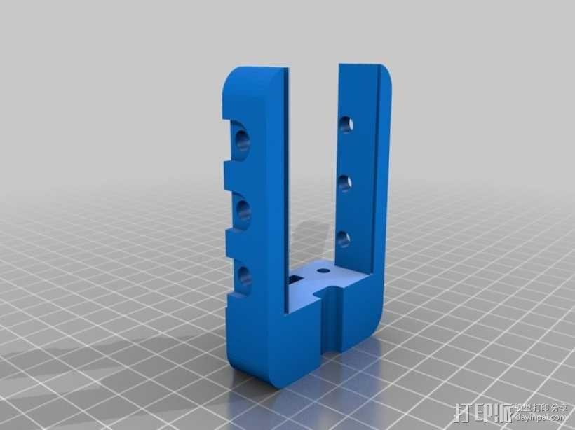 X轴适配器 3D模型  图2