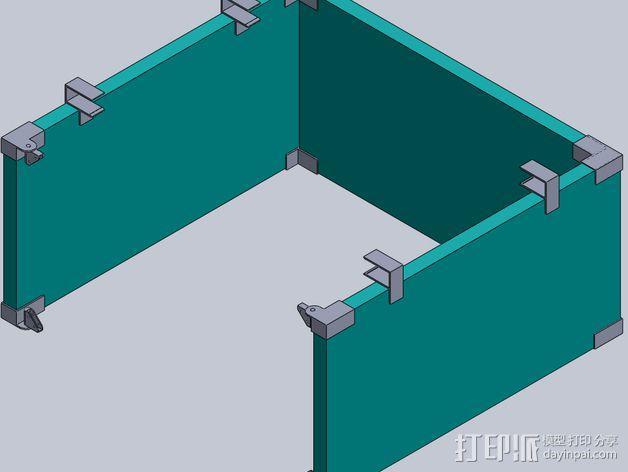 外壳夹 3D模型  图1