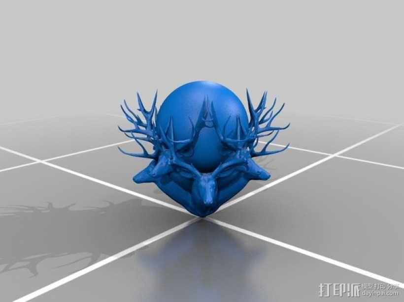 驯鹿 3D模型  图2