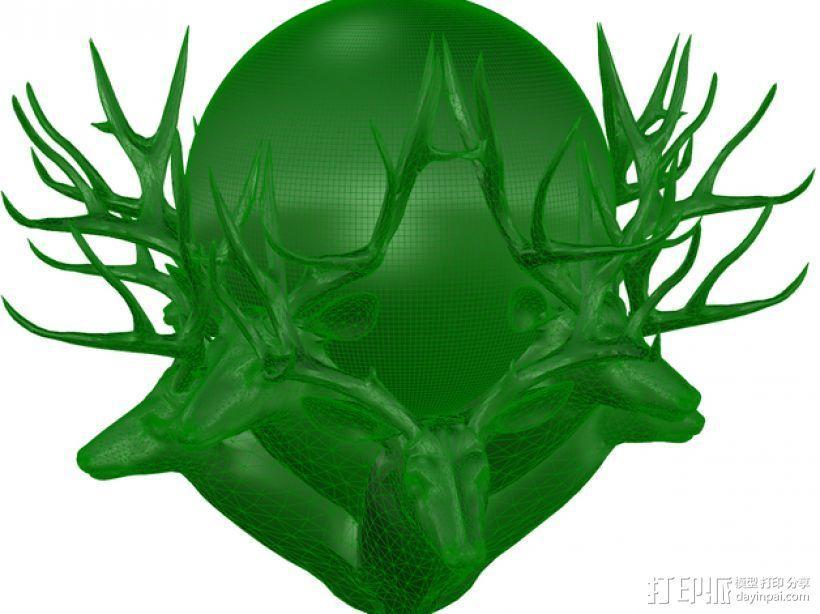 驯鹿 3D模型  图1