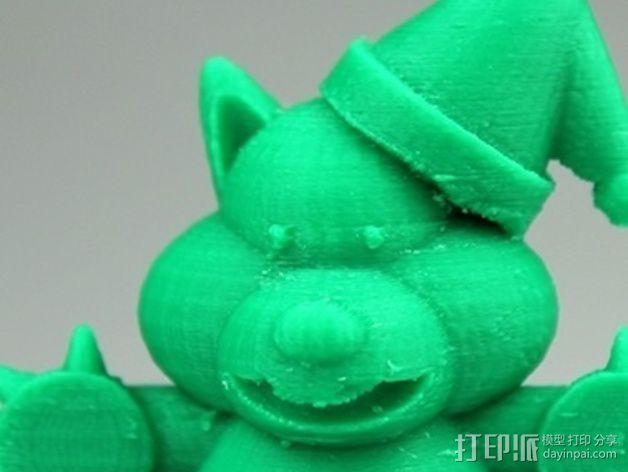 圣诞节老虎摆件 3D模型  图4