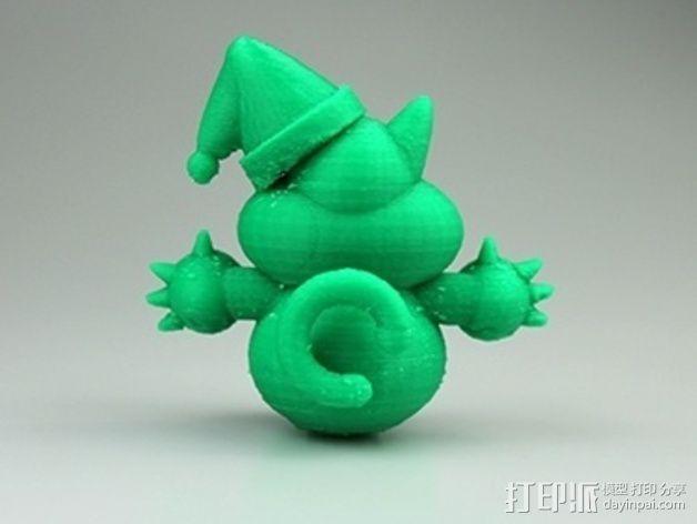 圣诞节老虎摆件 3D模型  图3