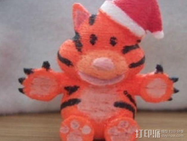 圣诞节老虎摆件 3D模型  图5