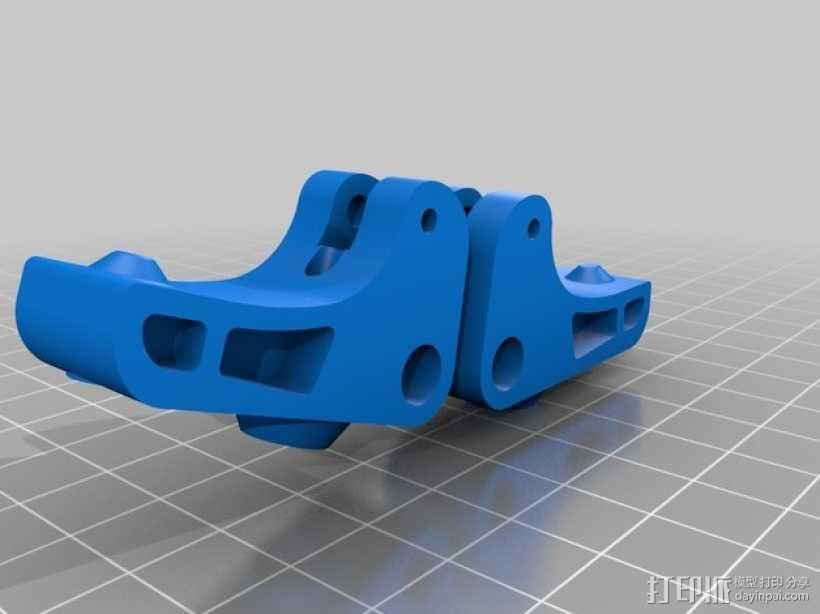 挤出器驱动 3D模型  图1