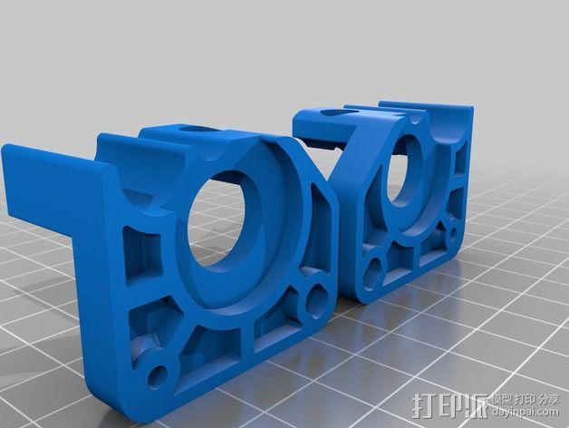 挤出器驱动 3D模型  图2