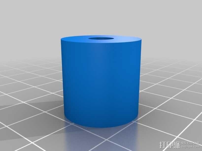 印花滚轴 3D模型  图2