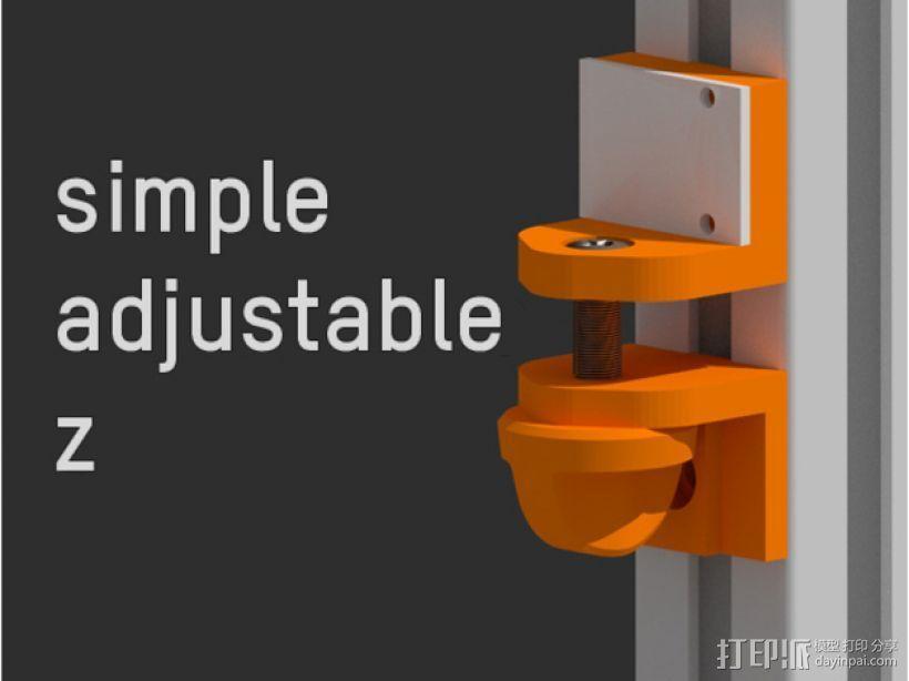 简易Z轴适配器 3D模型  图1
