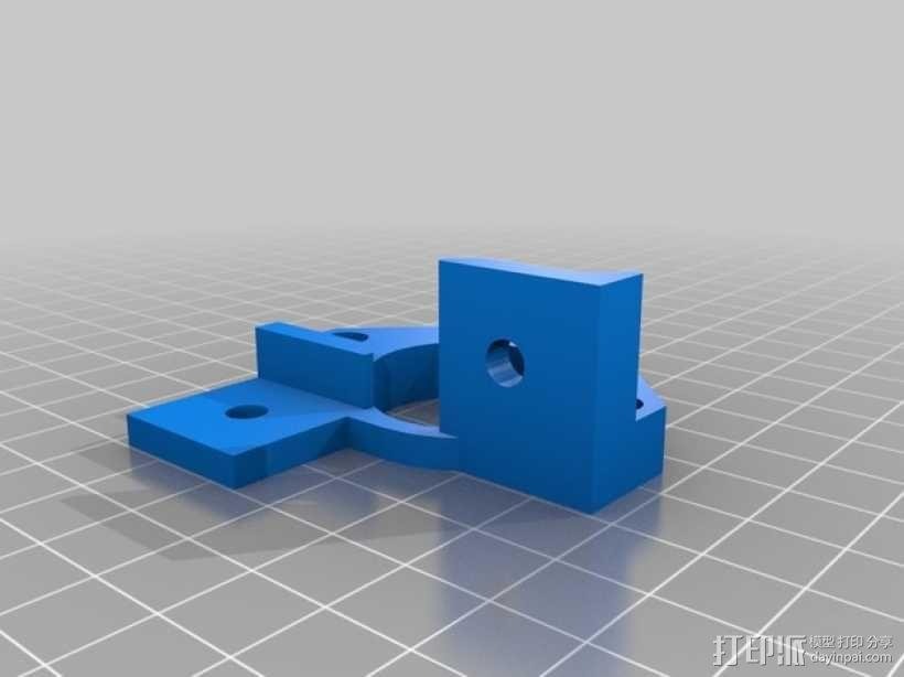 Y轴适配器挂载 3D模型  图2