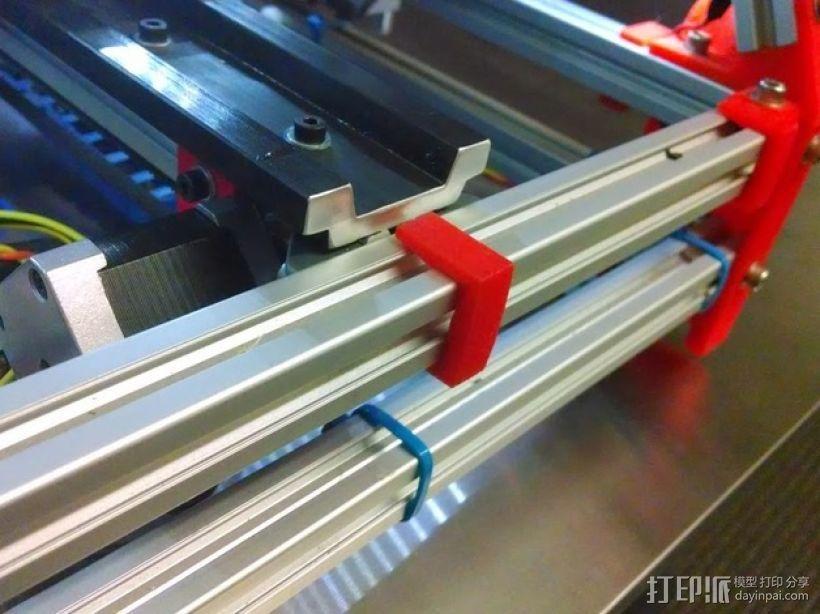 Y轴适配器挂载 3D模型  图5