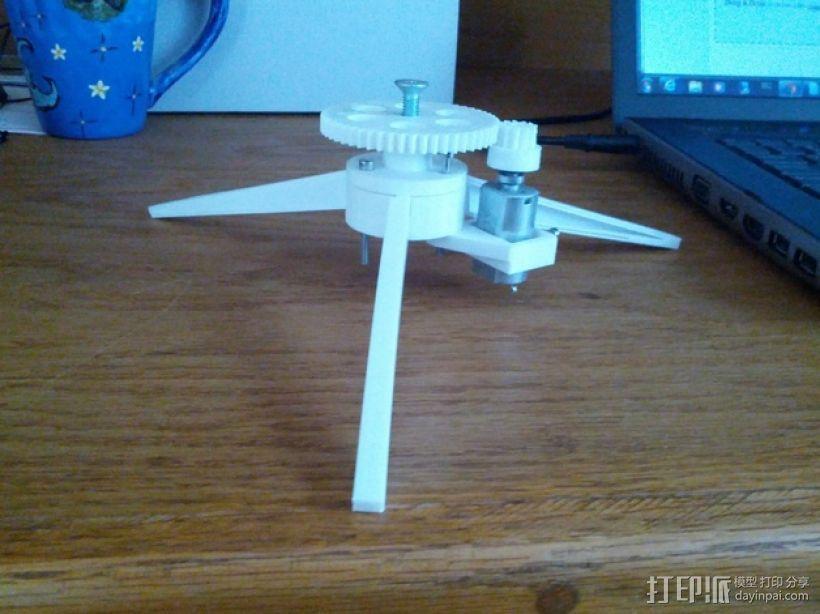 旋转平台 3D模型  图1