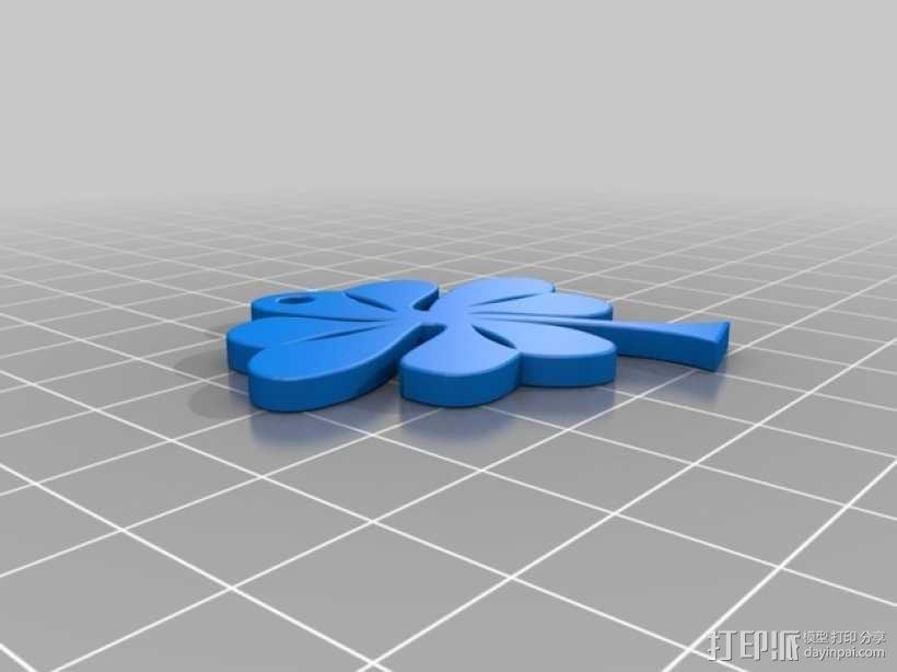 四叶草摆件 3D模型  图1