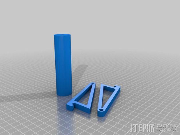 线轴架 3D模型  图2