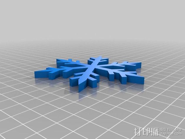 雪花 3D模型  图1