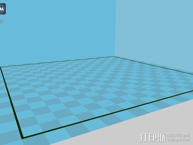 水平测试版面 3D模型  图1