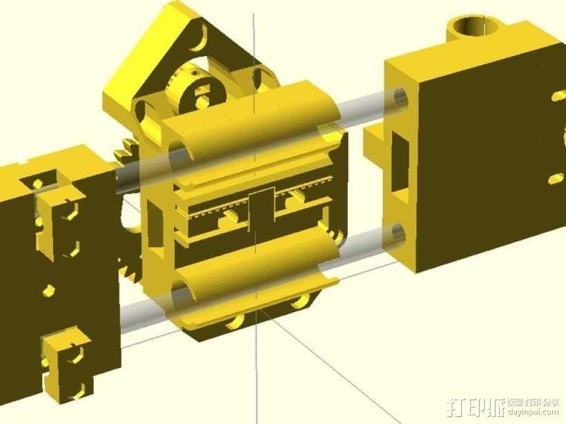 X轴垂直挤出器 3D模型  图2
