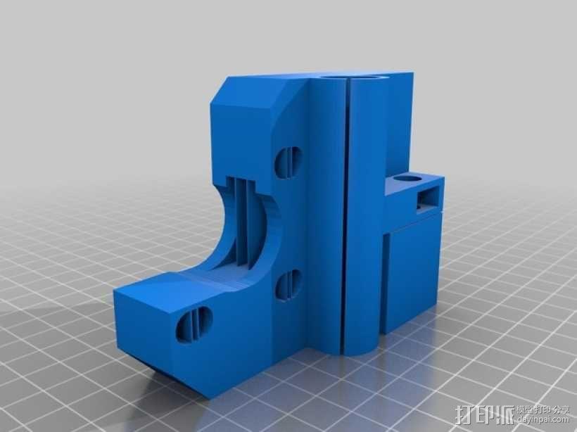X轴垂直挤出器 3D模型  图4
