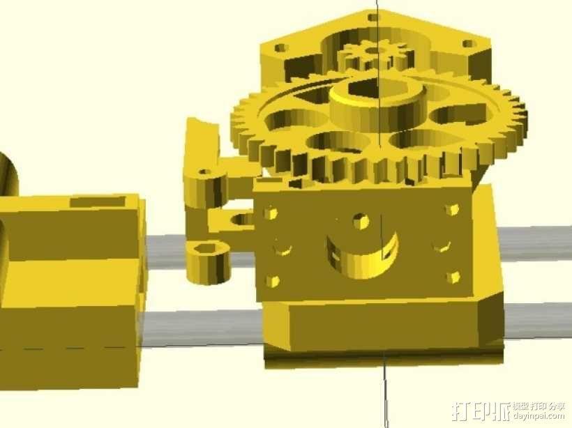X轴垂直挤出器 3D模型  图3