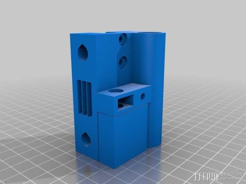 X轴垂直挤出器 3D模型  图7