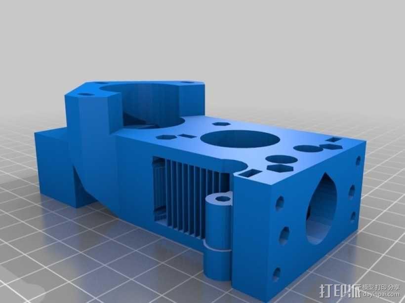 X轴垂直挤出器 3D模型  图11