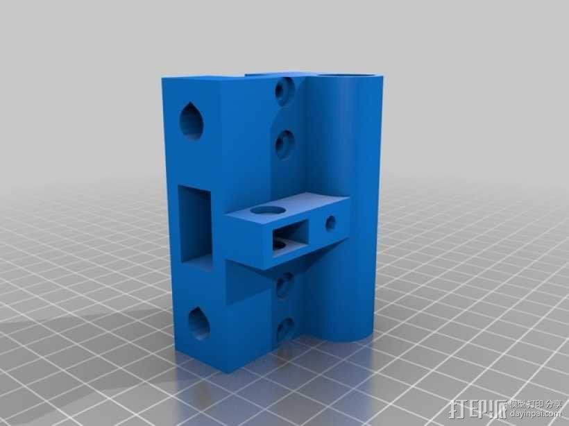 X轴垂直挤出器 3D模型  图14