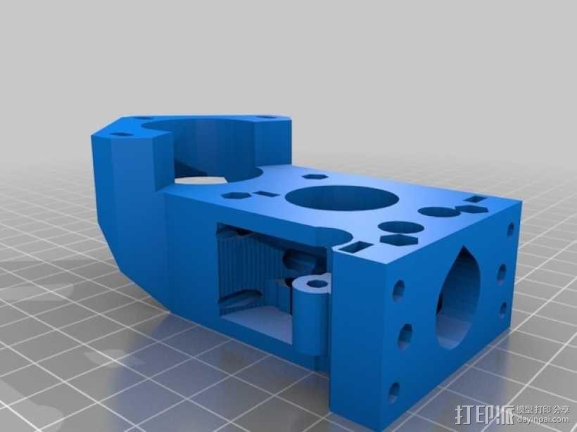 X轴垂直挤出器 3D模型  图15