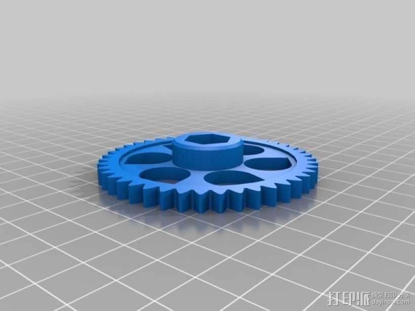 X轴垂直挤出器 3D模型  图17