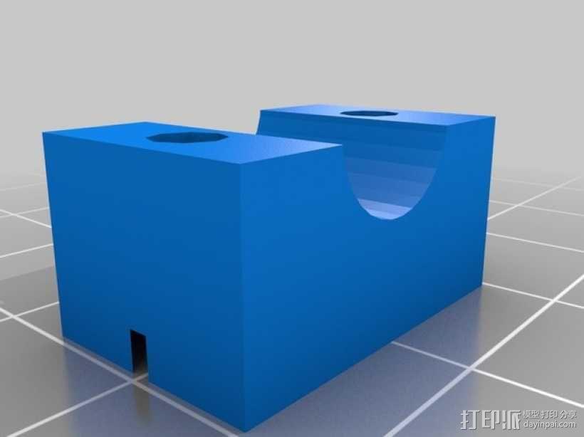 X轴垂直挤出器 3D模型  图16