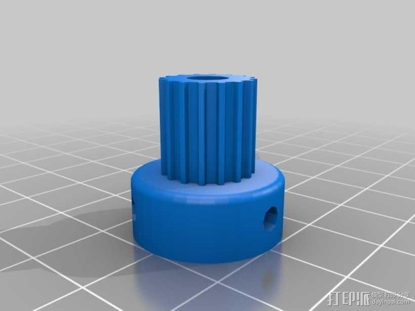 X轴垂直挤出器 3D模型  图19