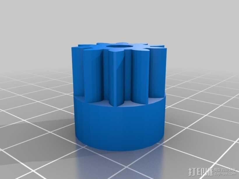 X轴垂直挤出器 3D模型  图18