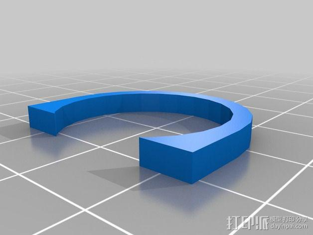 挤出器垫片 3D模型  图1