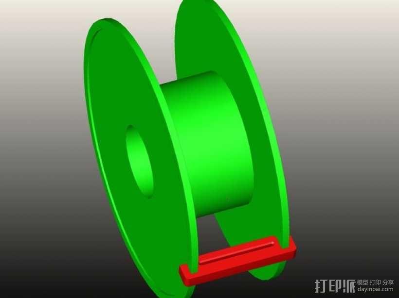 灯丝线轴 3D模型  图1