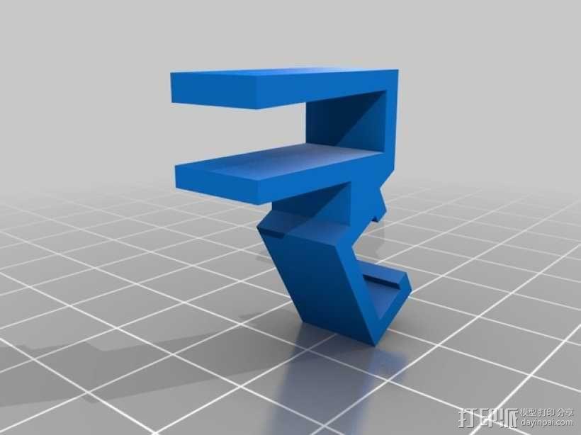 宜家二极管支架 3D模型  图2