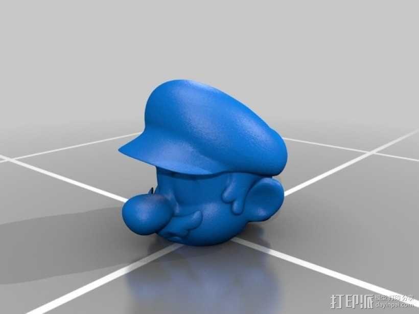 马里奥头像摆件 3D模型  图1