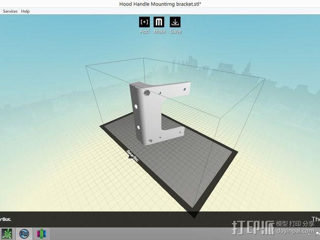 打印机适配器 3D模型  图6