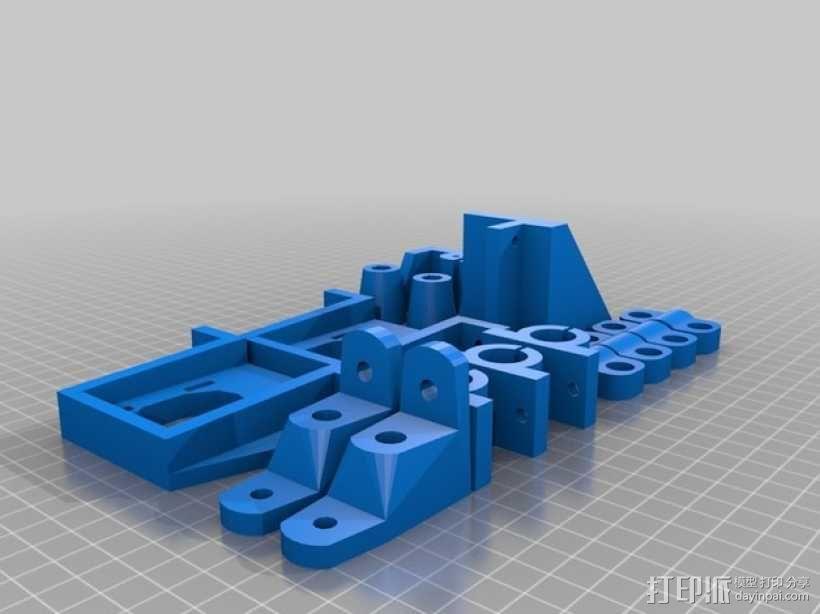3D打印机适配器 3D模型  图1