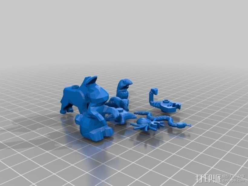 乐高动物摆件2.0 3D模型  图1