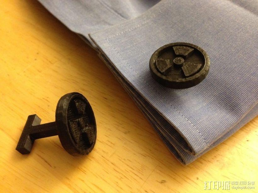 袖扣 3D模型  图1