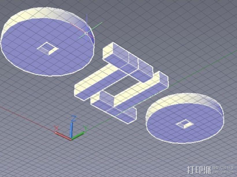 袖扣 3D模型  图4